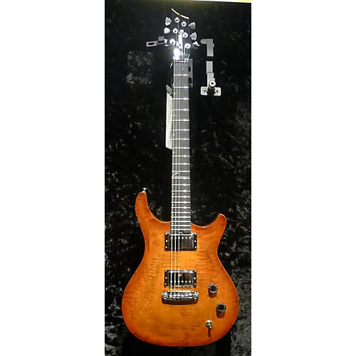 In Store Used Used ZANE ZCT CUSTOM CARVED TOP CINNABURST Solid Body Electric Guitar-thumbnail