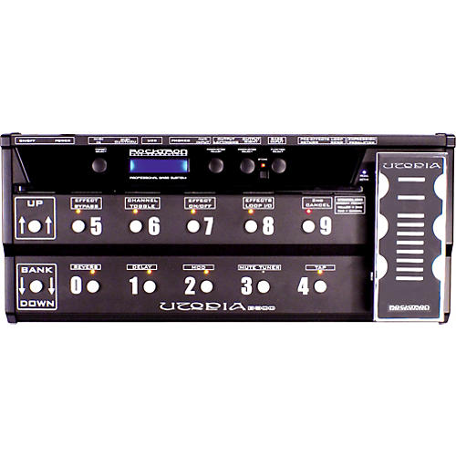 Rocktron Utopia B-300 Bass Floor Multi-Effects Pedal Black
