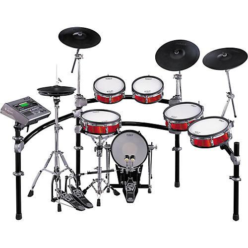 RockenWraps V-Drums Wrap Red Mosaic