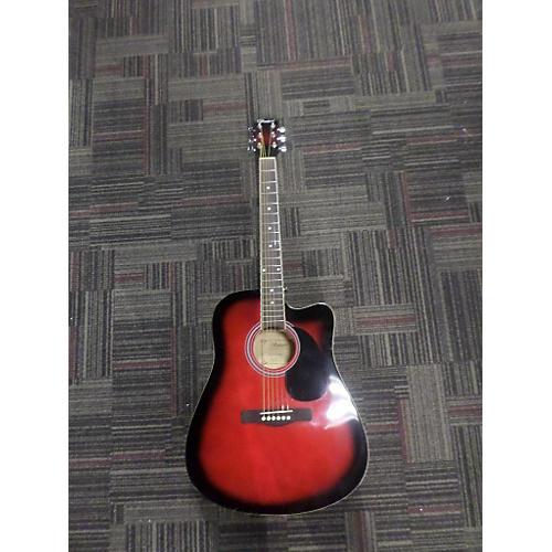 Ventura V12RED Acoustic Electric Guitar-thumbnail
