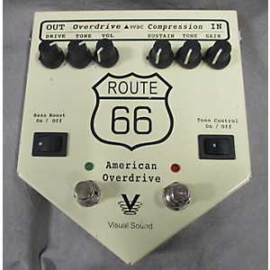 Pre-owned Visual Sound V2RT66 V2 Route 66 Overdrive Compressor Effect Processor by Visual Sound