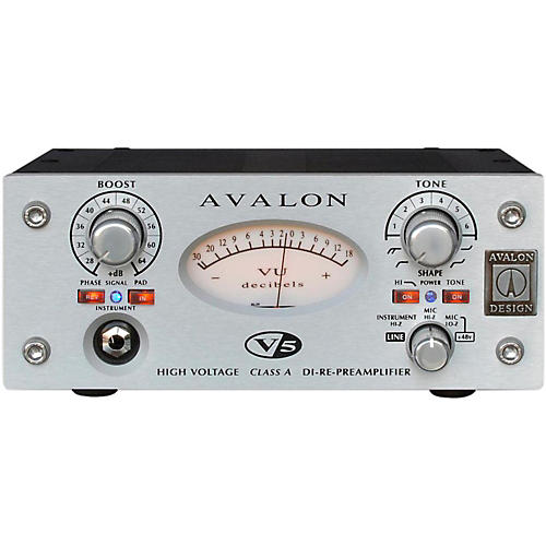 Avalon V5 Pure Class A Mono Mic-Line Pre-Re-Amp & DI-thumbnail