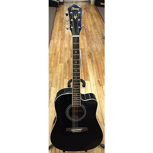 Ibanez V70CE Black Acoustic Electric Guitar-thumbnail