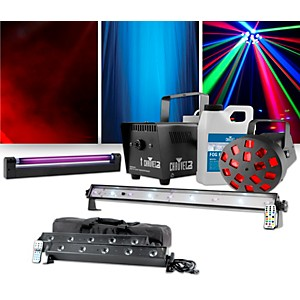 American DJ VBar Pak w/ CHAUVET DJ Jam Pack Diamond Lighting and UV Blackli... by American DJ
