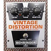Behringer VD1 VINTAGE DISTORTION Effect Pedal
