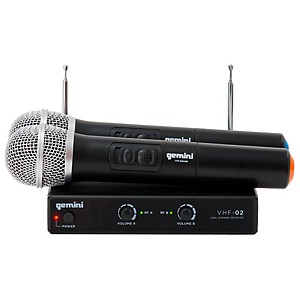 Gemini VHF-02M Dual Handheld Wireless System by Gemini