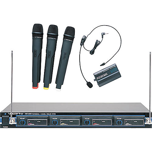 Vocopro VHF-4800 4-Channel VHF Wireless Microphone System