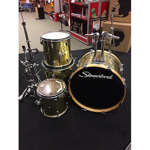 used slingerland vintage drum kit gold guitar center. Black Bedroom Furniture Sets. Home Design Ideas