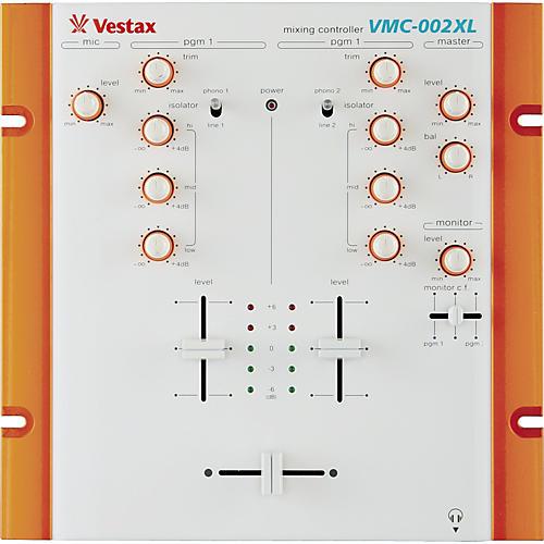 Vestax VMC-002XLWHT 2 Channel DJ Mixer