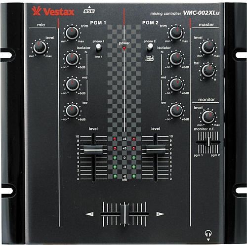 Vestax VMC-002XLu 2-Channel USB DJ Mixer