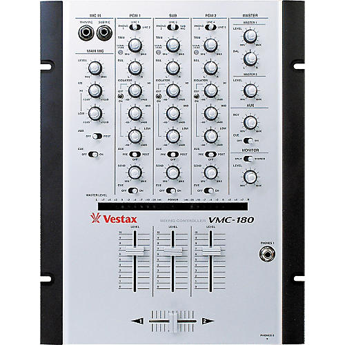 Vestax VMC-180 3-Channel House / Techno Mixer