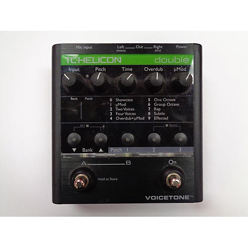 TC Helicon VOICETONE DOUBLE Effect Pedal