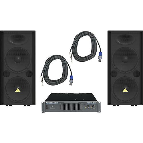 Behringer VP2520 / EP2000 Speaker & Amp Package