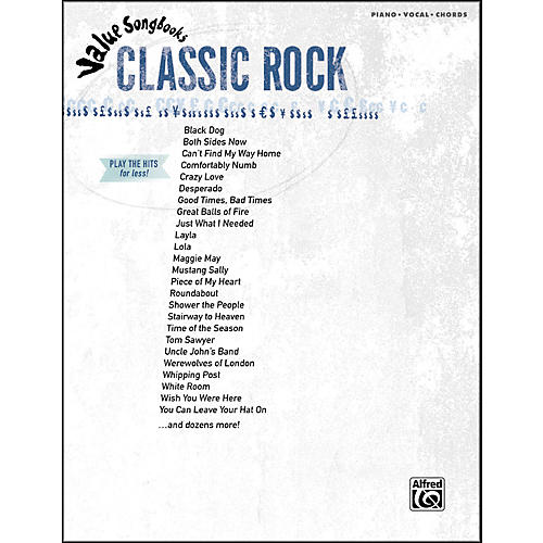 Hal Leonard Value Songbooks Classic Rock Piano/Vocal/Chords-thumbnail