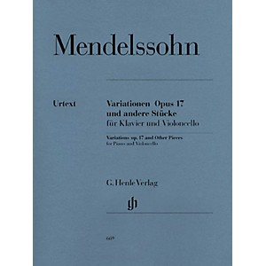 G. Henle Verlag Variations Op. 17 and Other Pieces for Piano and Violoncell... by G. Henle Verlag