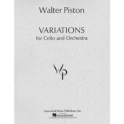 Associated Variations for Cello and Orchestra (1966) (Full Score) Study Score Series Composed by Walter Piston