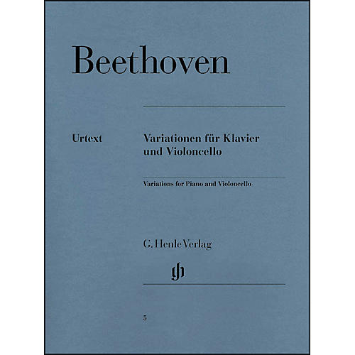 G. Henle Verlag Variations for Piano and Violoncello By Beethoven