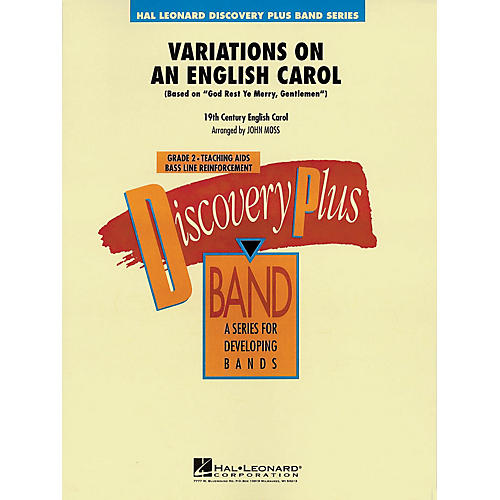 Hal Leonard Variations on an English Carol - Discovery Plus Concert Band Series Level 2 arranged by John Moss