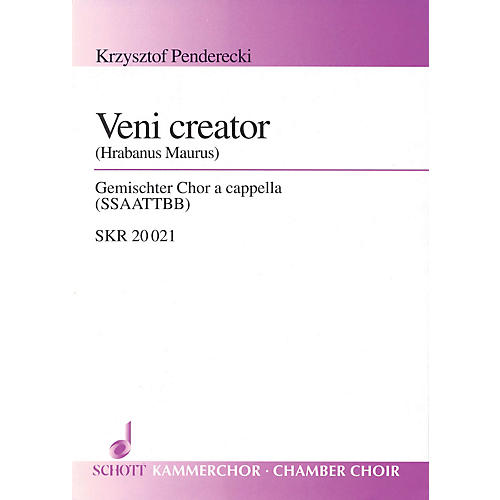 Schott Veni Creator (for Mixed Choir (SSAATTBB) - Choral Score) Composed by Krzysztof Penderecki