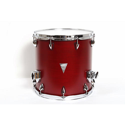 Orange County Drum & Percussion Venice Cherry Wood Floor Tom 14 x 14 in. Red Transparent Lacquer Finish
