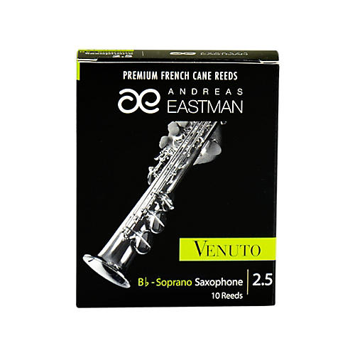 Andreas Eastman Venuto Soprano Saxophone Reeds Strength 2.5 Box of 10