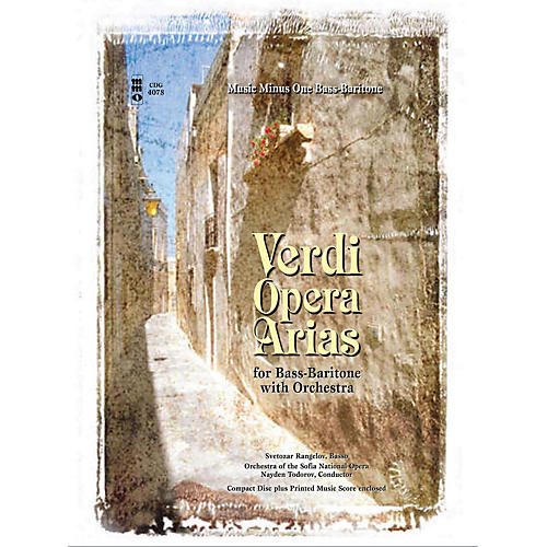 Music Minus One Verdi - Bass-Baritone Arias with Orchestra Music Minus One Series Softcover with CD by Giuseppe Verdi