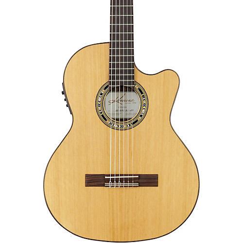 Kremona Verea Cutaway Acoustic-Electric Nylon Guitar Natural-thumbnail