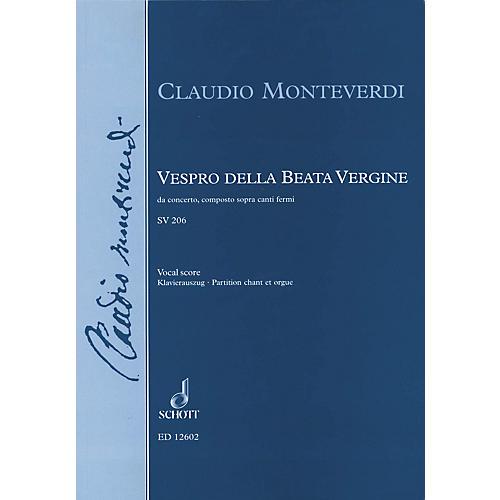 Schott Vespro della Beata Vergine (Vocal Score) Composed by Claudio Monteverdi Arranged by Jerome Roche