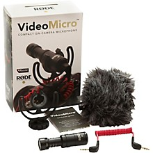Rode Microphones VideoMicro Compact Directional On-Camera Microphone Level 1