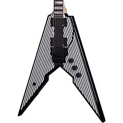 Viking with Floyd Rose Electric Guitar Black Pinstripes