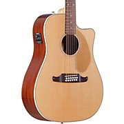 Fender Villager SCE Solid Top 12-String Acoustic-Electric Guitar