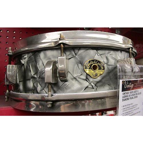In Store Vintage Vintage 1950s Leedy & Ludwig 4X14 New Era Black Diamond Pearl Drum-thumbnail