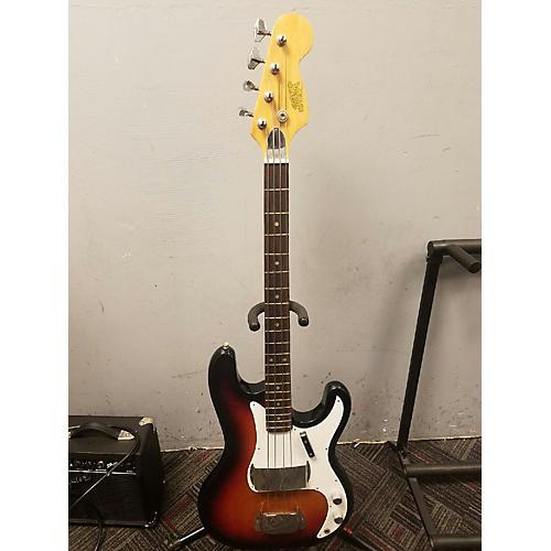 In Store Vintage Vintage 1980s Aspen 1PU Double Cut Sunburst Electric Bass Guitar