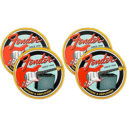 Fender Vintage Guitar & Amp Coaster 4 Pack