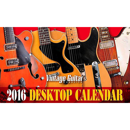Hal Leonard Vintage Guitar Magazine 2016 Desk Calendar-thumbnail