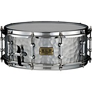 Vintage Hammered Steel Snare Drum 14 x 5.5 in.