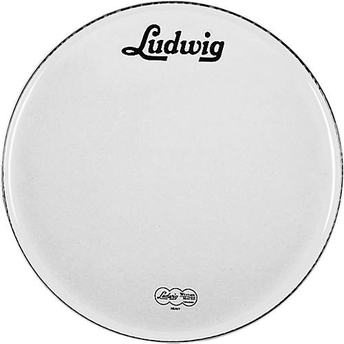 Ludwig Vintage Logo Bass Drumhead White 20 Inches