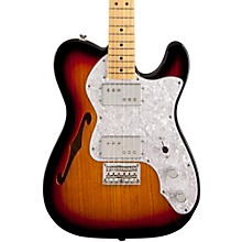 Vintage Modified 72 Telecaster Thinline Maple Neck Electric Guitar 3-Color Sunburst