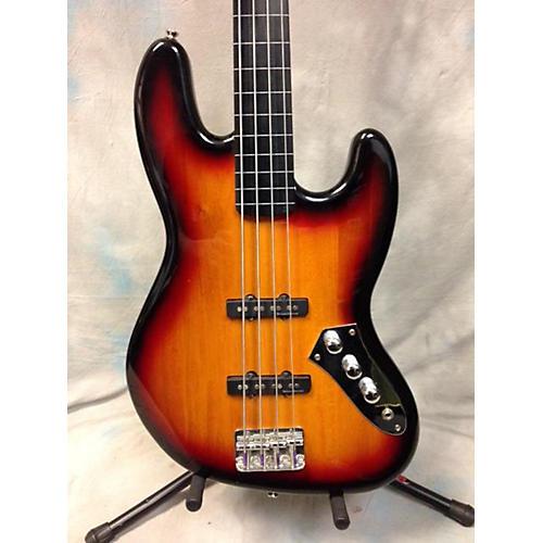 Squier Vintage Modified Fretless Jazz Bass 3 Tone Sunburst Electric Bass Guitar-thumbnail