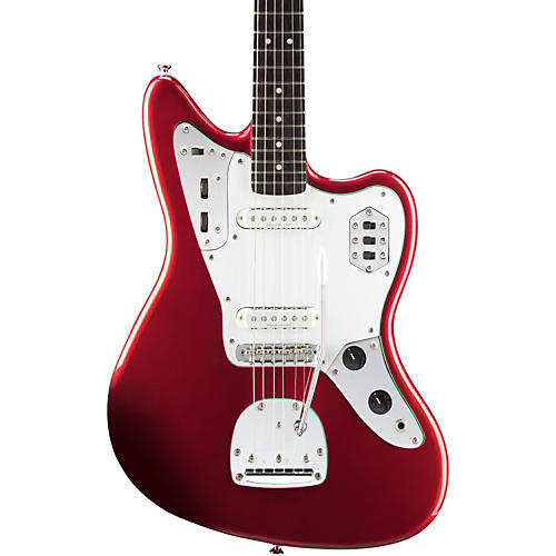 Squier Vintage Modified Jaguar Electric Guitar Candy Apple Red Rosewood Fingerboard