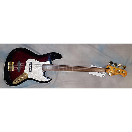 SX Vintage Series Fretless Electric Bass Guitar