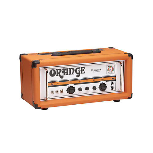 Orange Amplifiers Vintage Series Retro 50 50W Tube Guitar Amp Head Orange