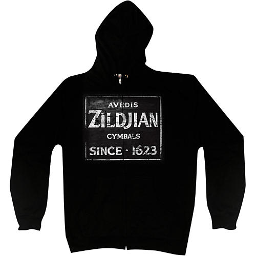 Zildjian Vintage Sign Zip Hoodie Black Small