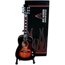Axe Heaven Vintage Sunburst Acoustic Miniature Guitar Replica Collectible