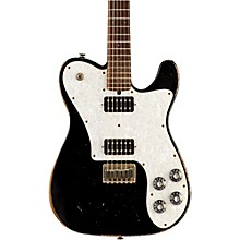 Vintage-T HH Rosewood Fingerboard Electric Guitar Black White Pearl Pickguard