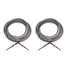 Fender Vintage Voltage Straight-Straight Instrument Cable - 12 ft. - Gray (2 PACK)