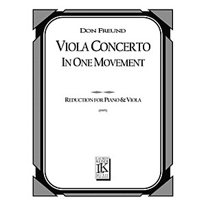 Lauren Keiser Music Publishing Viola Concerto in One Movement Piano Reduct...