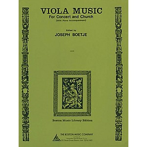 Music Sales Viola Music for Concert and Church with Piano Accompaniment M... by Music Sales