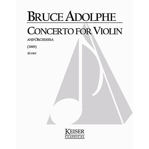 Lauren Keiser Music Publishing Violin Concerto LKM Music Series Composed by Bruce Adolphe