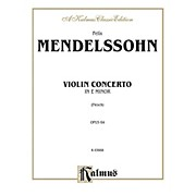 Alfred Violin Concerto Op. 64 for Violin By Felix Mendelssohn / arr. Carl Flesch Book